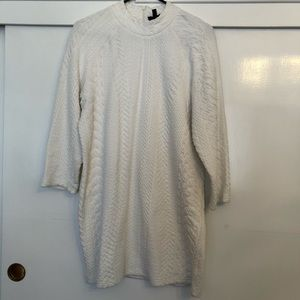 Topshop white textured dress size 8 EUC